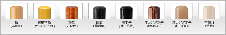 材質から選ぶ会社設立A-1セット(8種類)