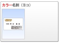 カラー名刺(ヨコ)