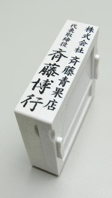 社判(小切手印・契約印)アドレス印 67mmサイズ 2段 タテ型